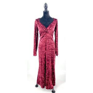 Newport News Size 16 Crushed Velvet Maxi Dress